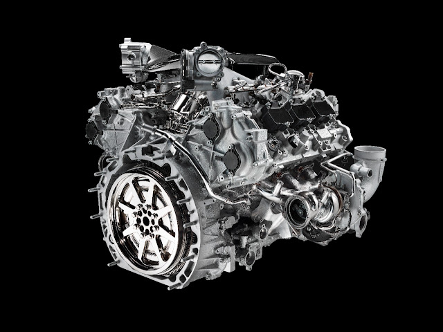 new 630 hp engine in its new MC20