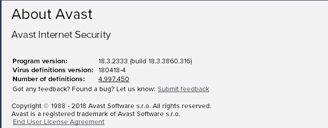 Avast Internet Security 18 3 3860 316 - With License 2018