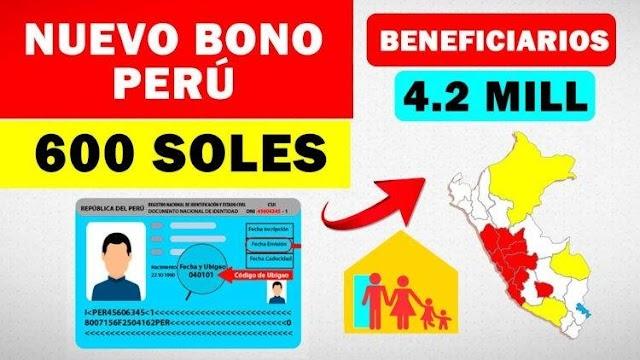 INFÓRMATE Sobre El Nuevo BONO Del Gobierno De 600 SOLES