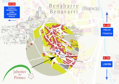 Mapa Jabones del Pirineo
