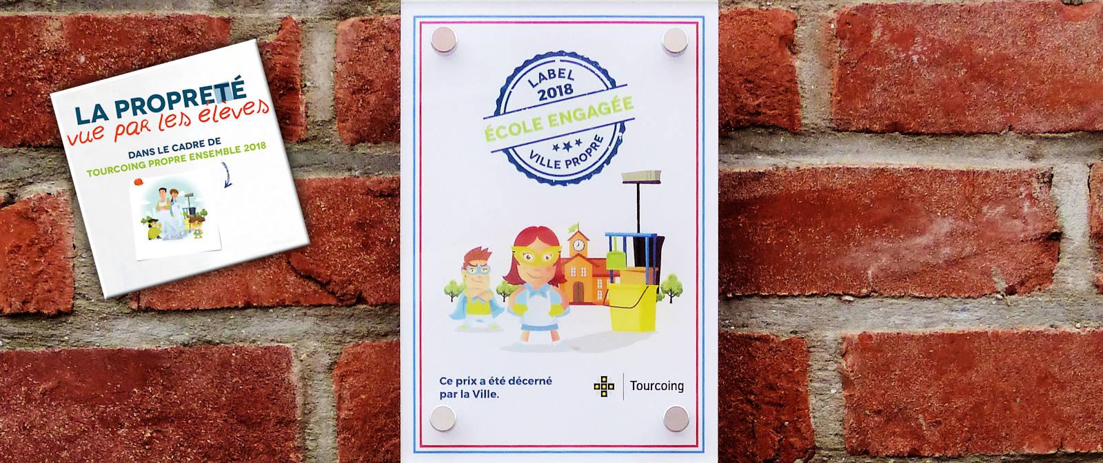 CNDI, Tourcoing - Label 2018 École engagée Propreté