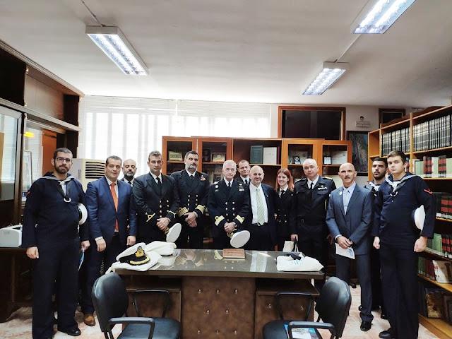 """Την Εθνική Βιβλιοθήκη Αργυρουπόλεως Πόντου, επισκέφθηκε το πλήρωμα του αντιτορπιλικού """"Βέλος"""""""