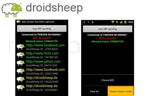 product key faceniff android
