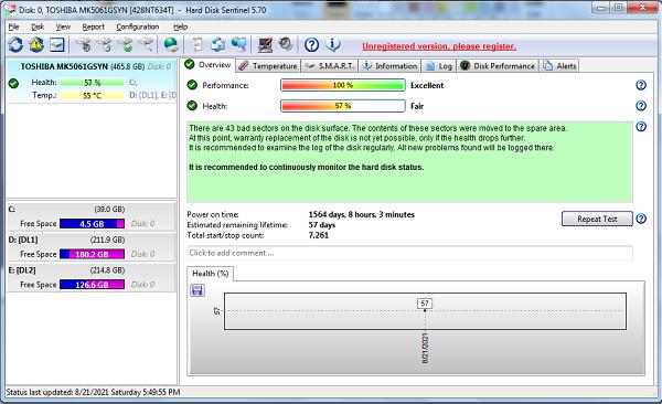 Download Hard Disk Sentinel - Kiểm tra và sửa lỗi ổ cứng máy tính a