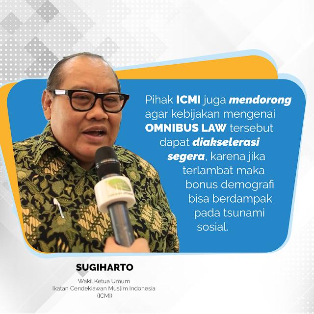 ICMI Dukung Omnibus Law Demi Pertumbuhan Ekonomi
