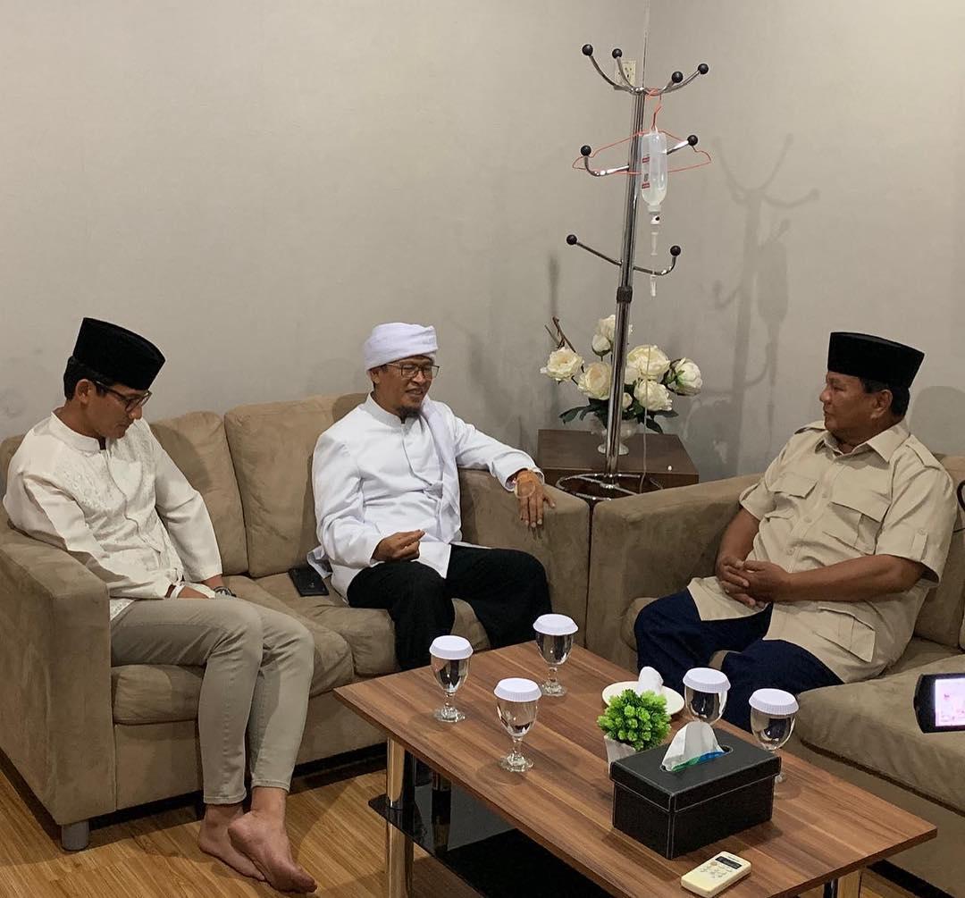 Allahu Akbar! Aa Gym Deklarasi Dukung Prabowo-Sandi