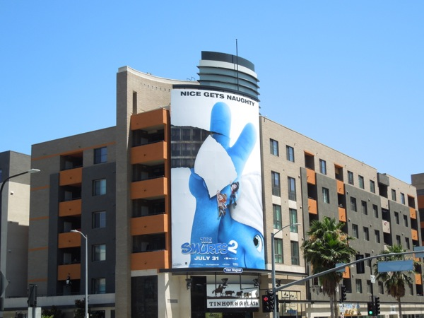 Smurfs 2 sequel billboard
