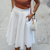 White skirt Summer outfit