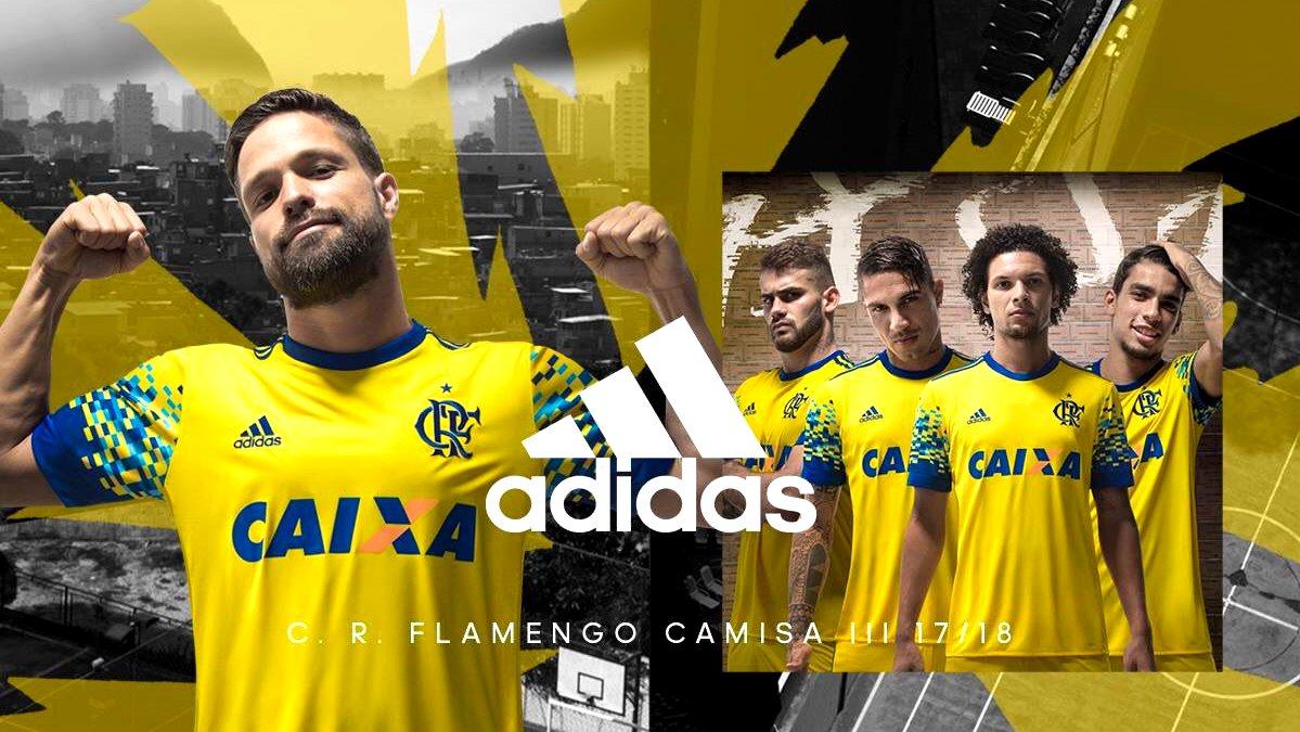 Flamengo divulga uniforme amarelo para temporada 2017 2018 ... 639862884a07c