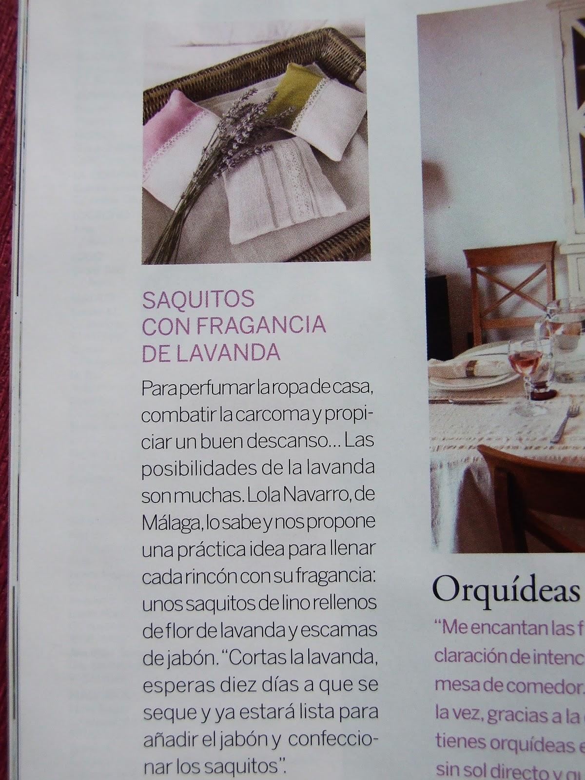 Decoestilo12 mis saquitos de lavanda en la revista el - El mueble es ...