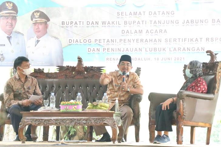 Bupati Anwar Sadat Serahkan Sertifikat RSPO