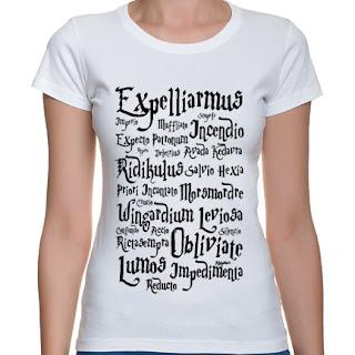 Koszulka Harry Potter - zaklęcia