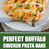 Perfect Buffalo Chicken Pasta Bake #pasta #chickenpasta