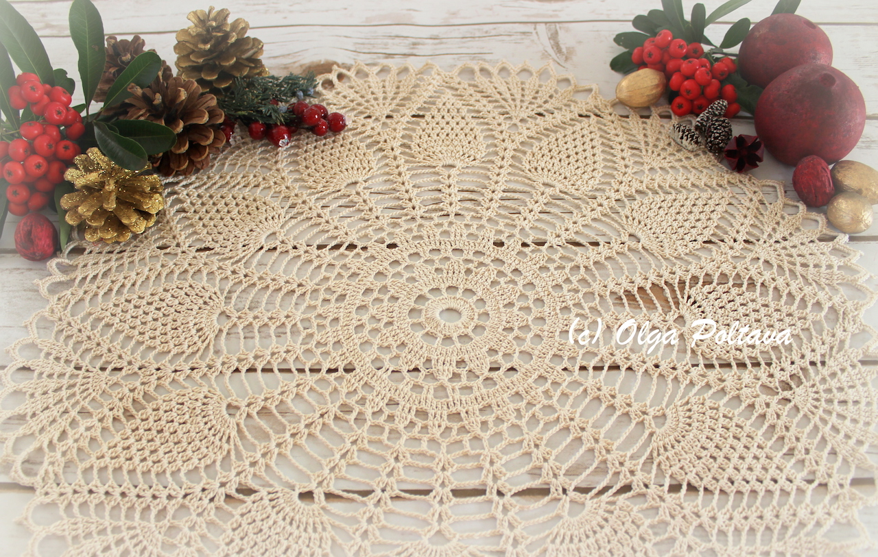 Lacy Crochet Happy New Year And A New Doily Free Crochet Pattern