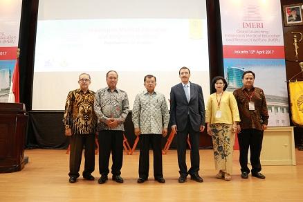 Wapres Jusuf Kalla Resmikan Pusat Riset IMERI FKUI