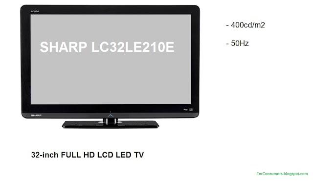 SHARP LC32LE210E TV specifications