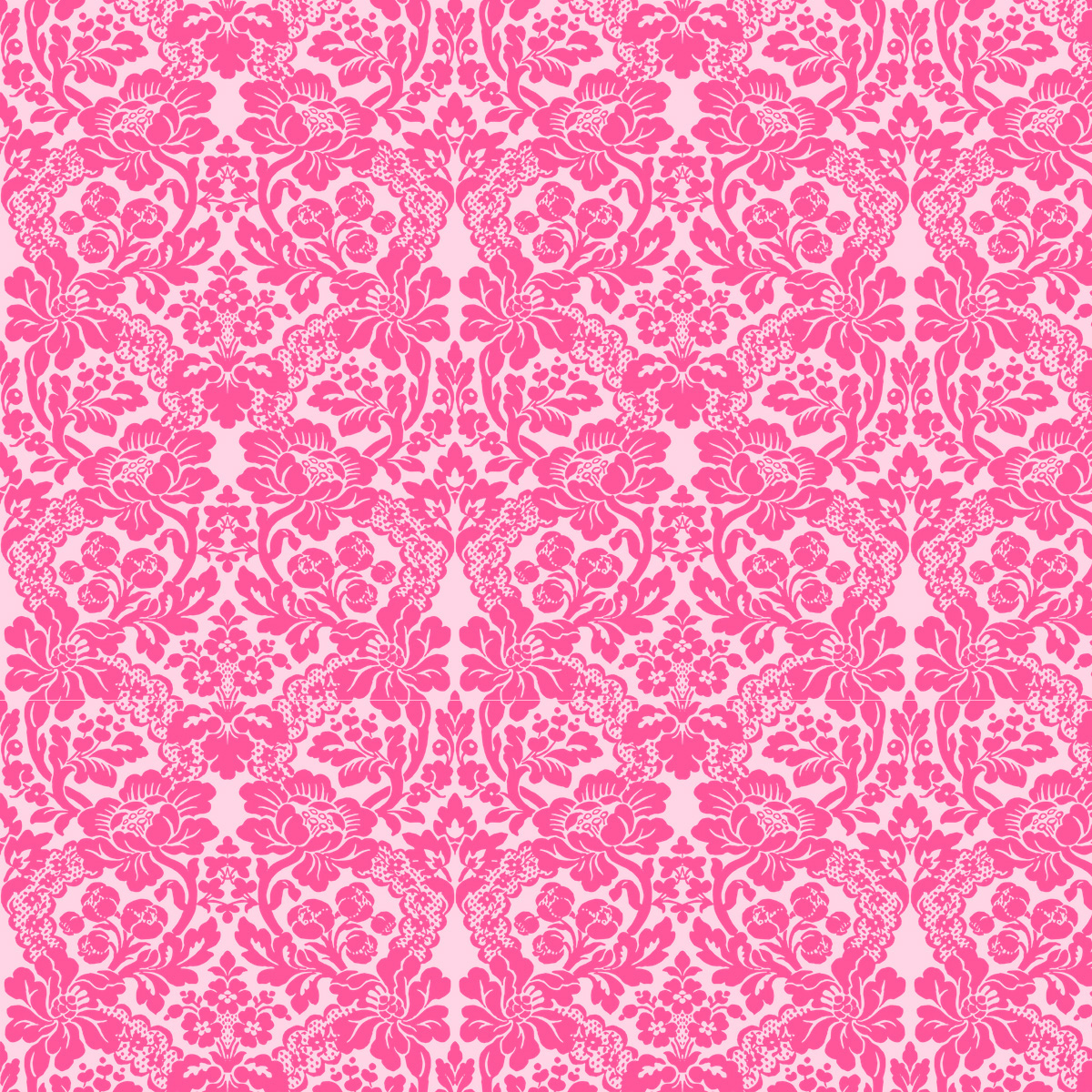 Free digital pink damask scrapbooking paper ...