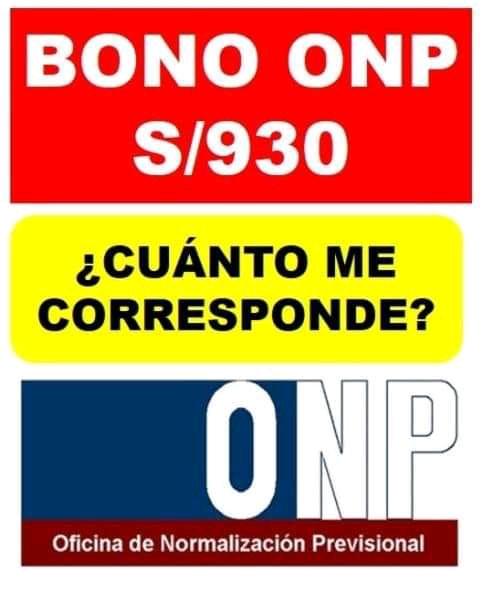 ONP: Bono retiro de 930 Soles