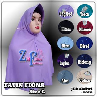 jilbab fatin fiona size L bahan kaos
