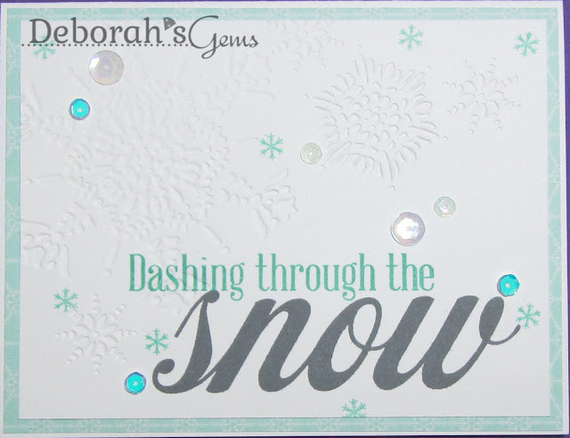 Dashing through the snow - photo by Deborah Frings - Deborah's Gems