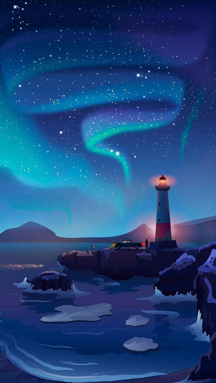 Lighthouse mobile wallpaper