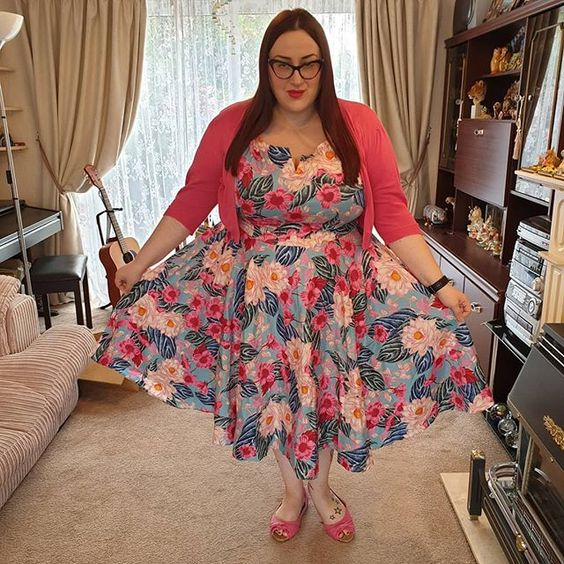 Hell Bunny Lotus Floral Dress
