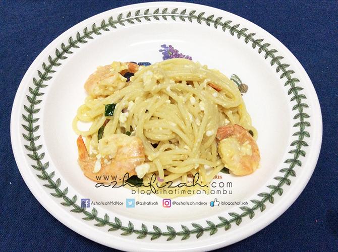 Resepi Spaghetti Telur Masin Blog Sihatimerahjambu