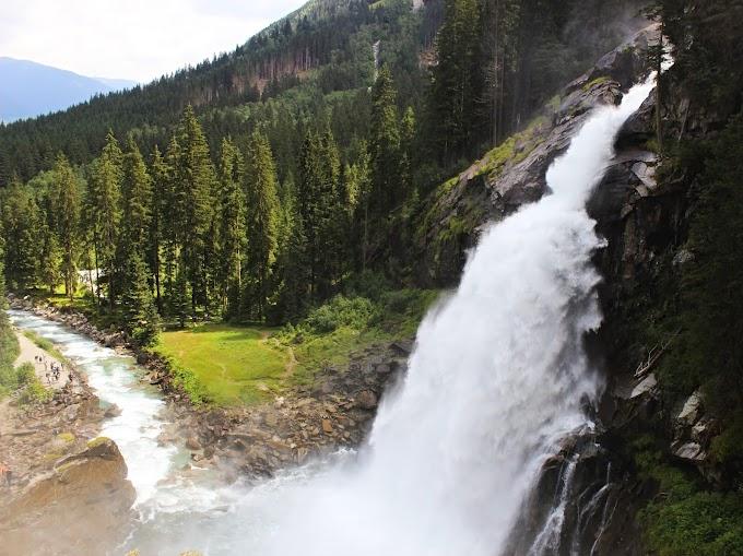 Krimml watervallen in Oostenrijk: de allerhoogste van Europa