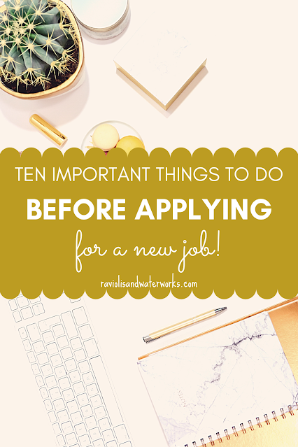 stop and do these things BEFORE submitting a job application