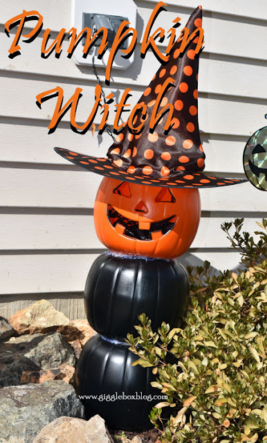 Halloween decoration from plastic pumpkins, Halloween decorations, Halloween, cheap outside decoration for Halloween,