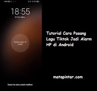 Tutorial Cara Pasang Lagu Tiktok Jadi Alarm HP di Android