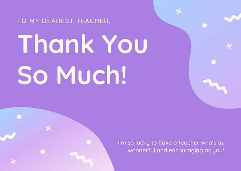 thank you message to teacher