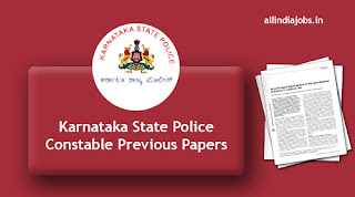 Karnataka State Police Constable Previous Papers