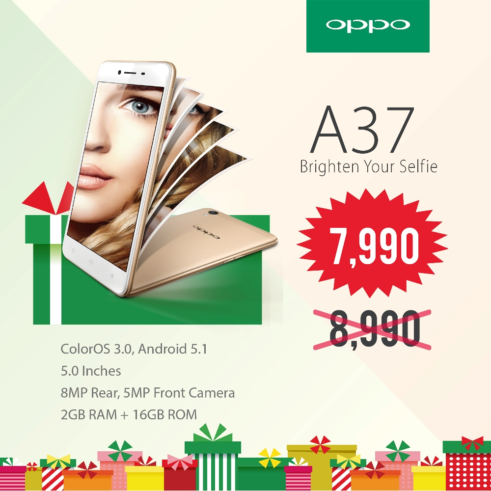 OPPO A37 price drop 2016