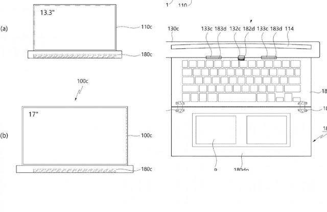 màn hình laptop cuộn gọn