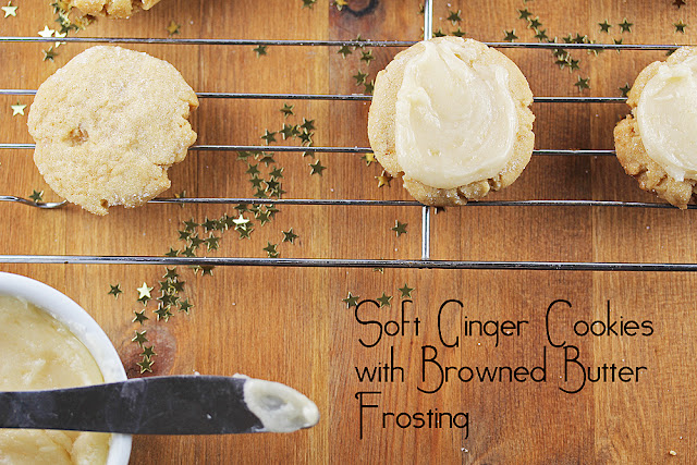 Soft Ginger Cookies With Browned Butter Frosting