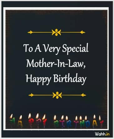Mother-in-law birthday wishes In english