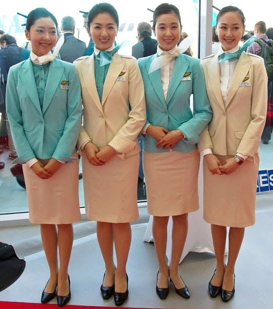 Pretty Cabin Attendant In Korean Air World Stewardess Crews