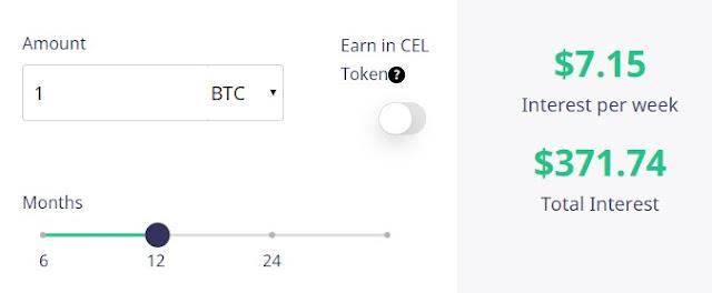 Celsius Network calc blockchain bitcoin juros interest