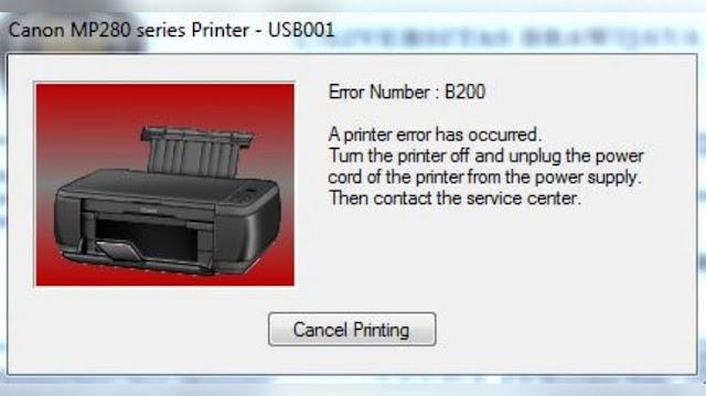 Cara Reset Printer Canon Mp287 Error B200