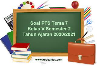 Contoh Soal PTS/UTS Tema 7 Kelas 5 K13 T.A 2020/2021