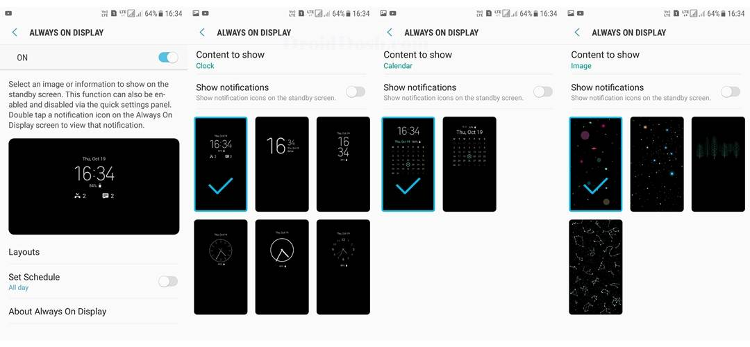 Enable Samsung Always on Display