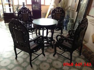 bô bàn ghế trắc cũ trúc nam