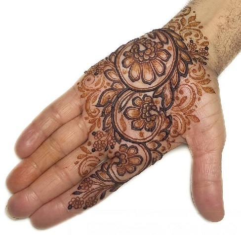 Arabic Mehndi Design for front hand