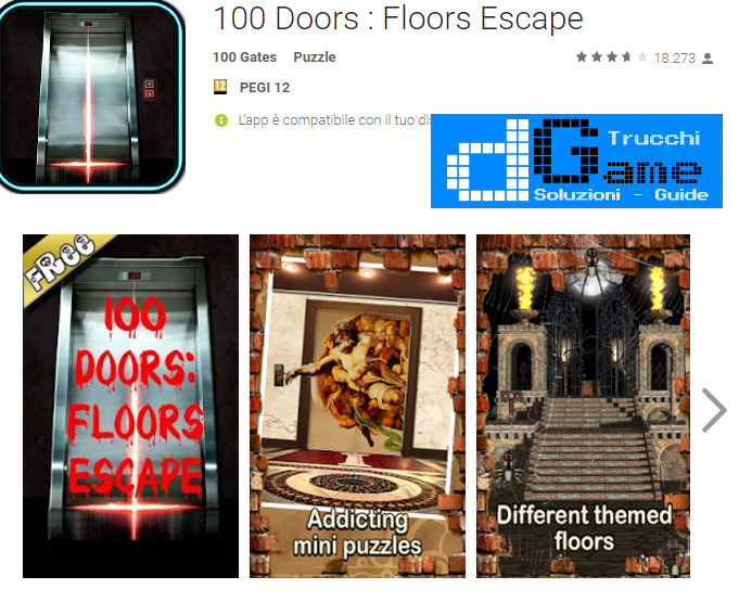 Soluzioni 100 Doors Escape Floors livello 1-2-3-4-5-6-7-8-9-10 | Trucchi e Walkthrough level