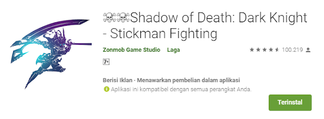 Shadow of Death: Dark Knight - Stickman Fighting Mod APK Unlimited Money