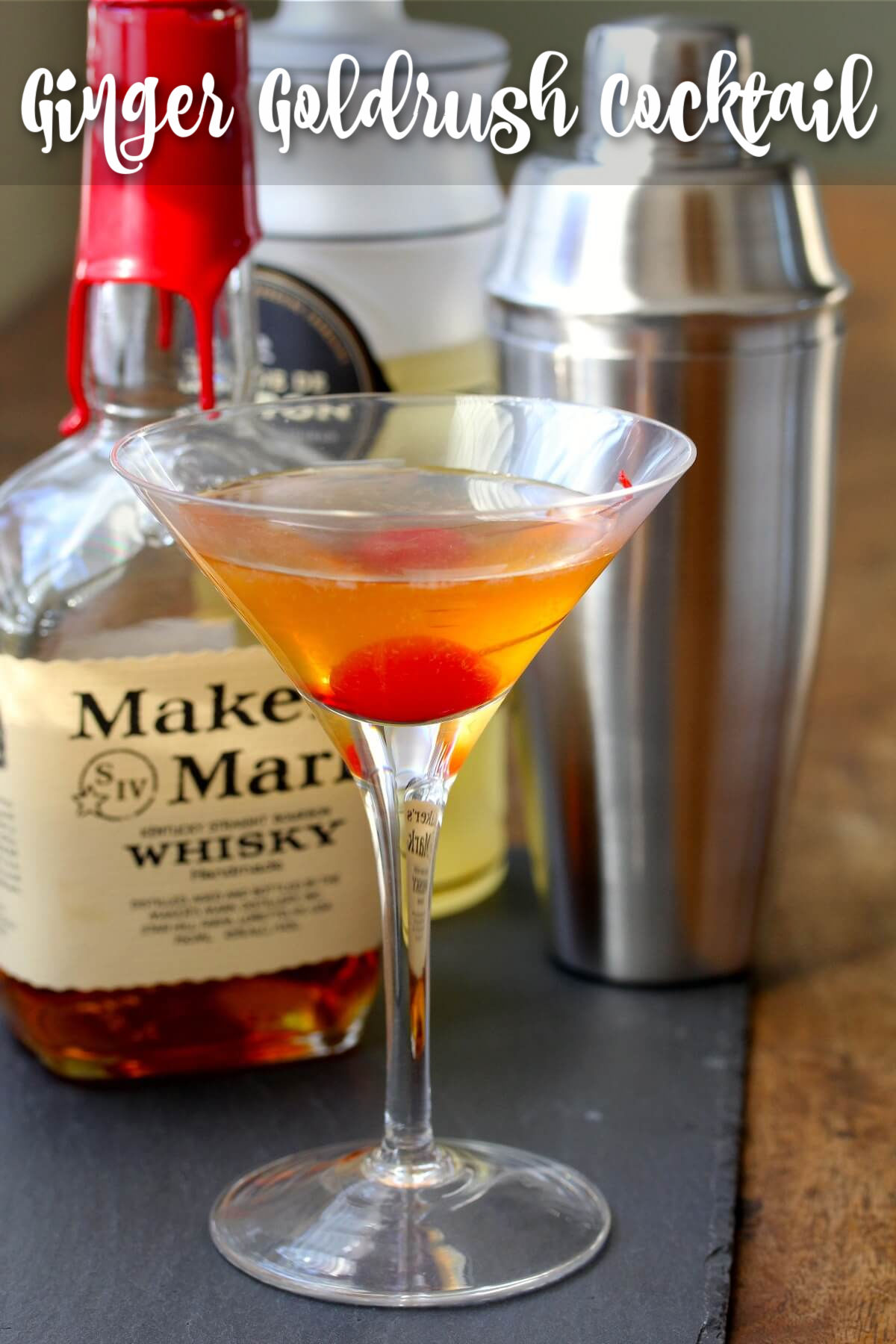 Bourbon Ginger Gold Rush Cocktail with Domain Canton