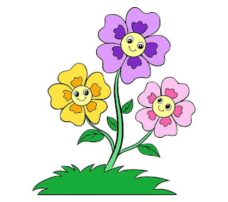 Gambar bunga kaartun cantik