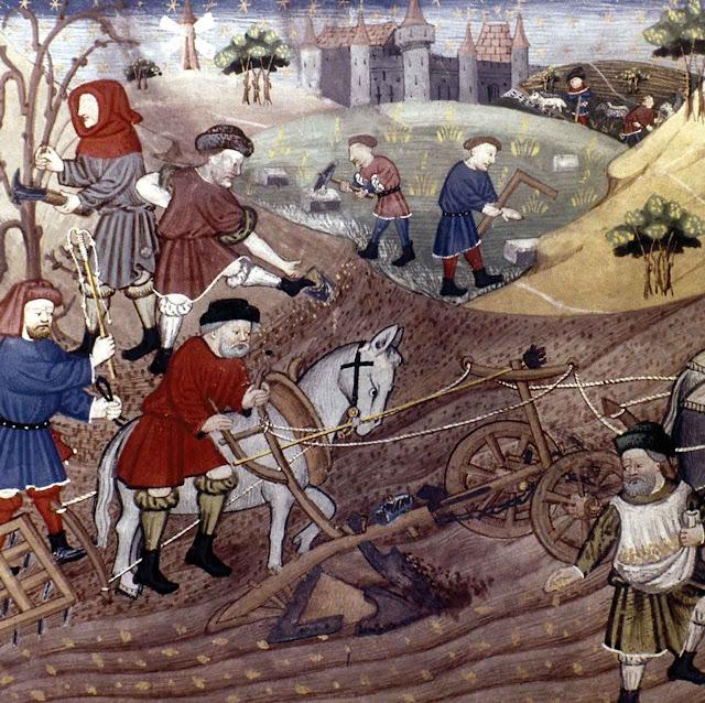 O ritmo do trabalho na Idade Média era ditado pelos ritmos da natureza.