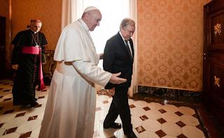 البابا فرنسيس يستقبل الأمين العام للأمم المتحدة أنطونيو غوتيريش